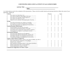 Group Activity Evaluation Template Evaluation Activity Evaluation Form 1