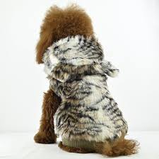 luxury tiger stripe fur dog coat