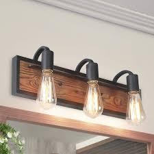 Rustic Wood Light Fixtures Lnc A03440 Bathroom Lighting Fixtures Over Mirror Wooden Farmhouse Vanity Sconce Rustic Wall Lamp