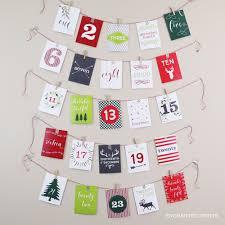 printable advent calendar 25 card december calendar countdown to diy decor