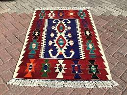 good red blue rug or kilim rug747 navy blue and red vintage turkish kilim rug 91 new red blue rug