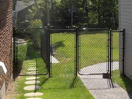 Residential Chain Link Fence Gates Single and Double Swing