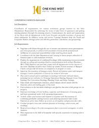 Conference Manager Resume Simple Bunch Ideas Perfect Conference