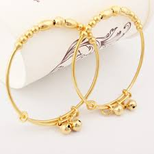 new arrival gold color baby bracelets bangles jewelry girls and necklace for girl