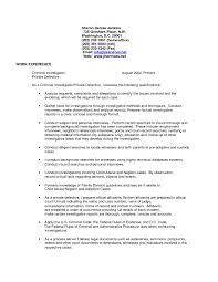 Detective Resume Beautiful Supervisory Criminal Investigator Cover