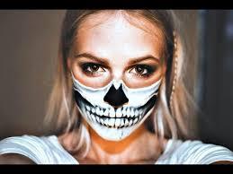 easy tutorial half skull mask you