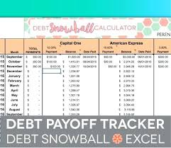Credit Card Debt Payoff Spreadsheet Trejos Co