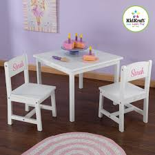 personalized aspen kids 3 piece table and chair set