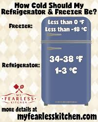 Freezer Temperature Chart How Cold Should My Refrigerator Freezer Be My Fearless