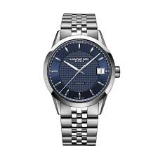 raymond weil lancer men s automatic blue dial stainless steel raymond weil lancer men s automatic blue dial stainless steel bracelet watch full size image
