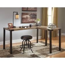 home office l shaped desk. signature design by ashley dexifield modern industrial woodmetal home office corner desk l shaped