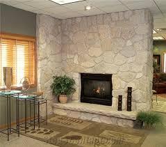 fond du lac limestone cut stone rockfaced finish fireplace surround