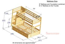 Bunk Bed Stairs Plans Bedroom Stunning Twin Over Full Bunk Bed With Stairs For Teens Or