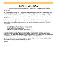 Cover Letter For Receptionist With Experience Chechucontreras Com