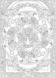 Peacock Coloring Page For Adults 6