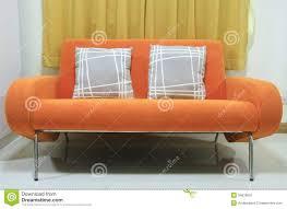 Orange Couch Living Room Orange Sofa Royalty Free Stock Photography Image 34535607