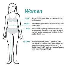 Women S Measurement Chart Body Womens E9 Apparel Sizing Chart Climb On Squamish