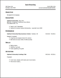 Work History Resume Template Work History Resume format Students with No Experience 37