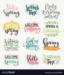 Spring Photo Cards Spring Time Lettering Greeting Cards Set Special