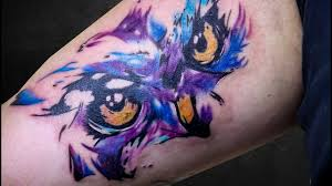Tattoo Timelapse Color Owl Biceps Tattoo