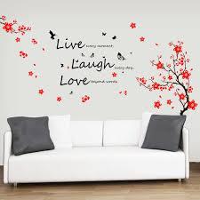 bedroom  wall vinyl wall transfers flower wall stickers wall