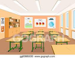 classroom table vector. vector art - illustration of an empty classroom. clipart drawing gg63885030 classroom table