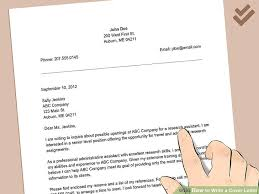 5 Ways To Write A Cover Letter Wikihow