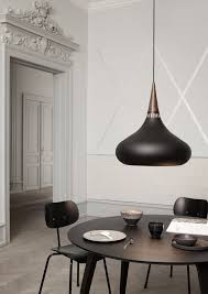 black kitchen lighting. dining room featuring the orient black pendant by jo hammerborg kitchen lighting g