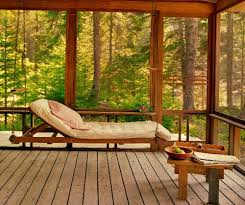 comfortable sunroom furniture. adorable forest sunroom design with swinging bed white bolsted and wooden coffee table upon comfortable furniture u