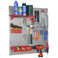Wall Control 23-Piece Steel Pegboards Kit (Actual: 16-in x 32. Tools not  included
