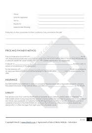 Sale Of Car Contract Contract 1 Agreement To Sell Car Full Version Drive It