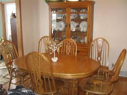 used oak dining room table dining room chairs with a matching dining table