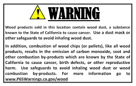 Bildergebnis für warning sign people in california when you use wood pellets