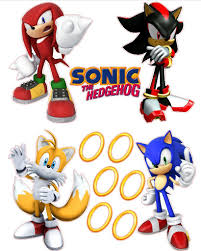 Sonic The Hedgehog Wallpaper For Bedrooms Sonic The Hedgehog Tails Knuckles And Shadow Removable Wall