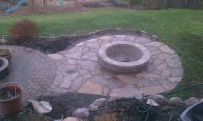 flagstone patio with fire pit. Flagstone Patio Filler Lovely With Fire Pit Connected To Brick Paver L