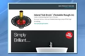 remove push pull pop assembly tele island tub drain feature itd35
