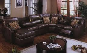 leather sectional living room furniture. Unique Oval Coffee Table And White Carpet For Traditional Living Room Ideas Using Brown Leather Sectional Sofa Small Space Furniture