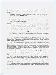 Short Non Disclosure Agreement Template New Mutual Business