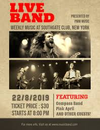 Concert Poster Design Design Concert Posters And Flyers Postermywall