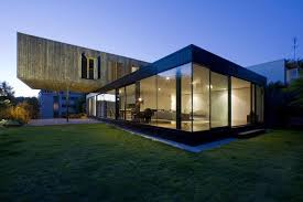 View in gallery cantilevered french house design in wood and glass 1 thumb  630xauto 38257 Contemporary Cantilever House Design