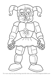 how to draw circus baby from five nights at freddy s