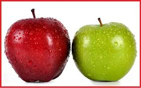 green and red apples. do you think apples are not created equal? green and red i