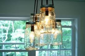 lighting gorgeous mason jar light fixture diy pendant chandelier ceiling lights kitchen fixtures fan kit
