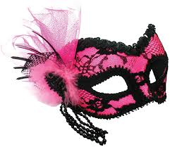 Decorative Masquerade Masks Pink Black Lace Masquerade Mask My Fancy Dress Ireland 27