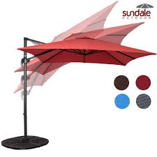sundale outdoor 8 2ft square hanging roma offset umbrella outdoor