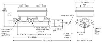 wilwood tandem master cylinder drawing