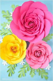 Rose Flower With Paper Free Large Paper Rose Template Diy Camellia Rose Tutorial