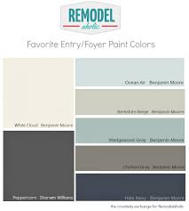 paint colors for hallwaysRemodelaholic  Favorite Entryway and Foyer Paint Colors