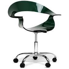 acrylic office chair. elia dark acrylic modern swivel chair office
