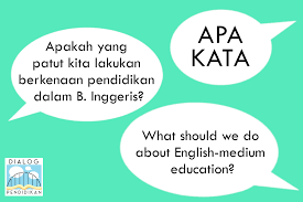 Apa Kata Pendidikan Dalam Bahasa Inggeris English Medium